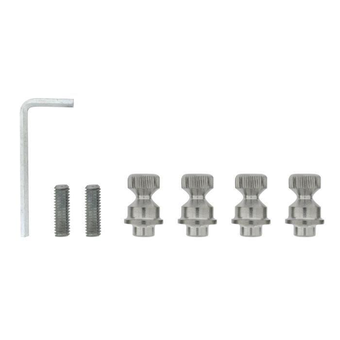 ALPERTEC Kit de fixation pour toutes barres de tirage - Fixation double - Montage sur verre