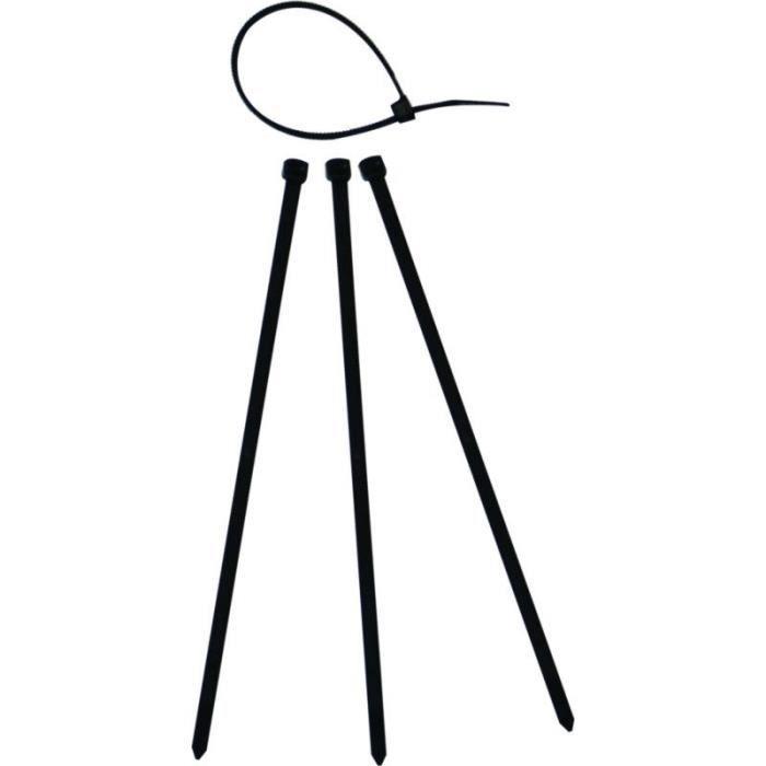 THOMAS & BETTS Lot de 50 colliers de serrage noirs - Diamètre maximum 76 mm