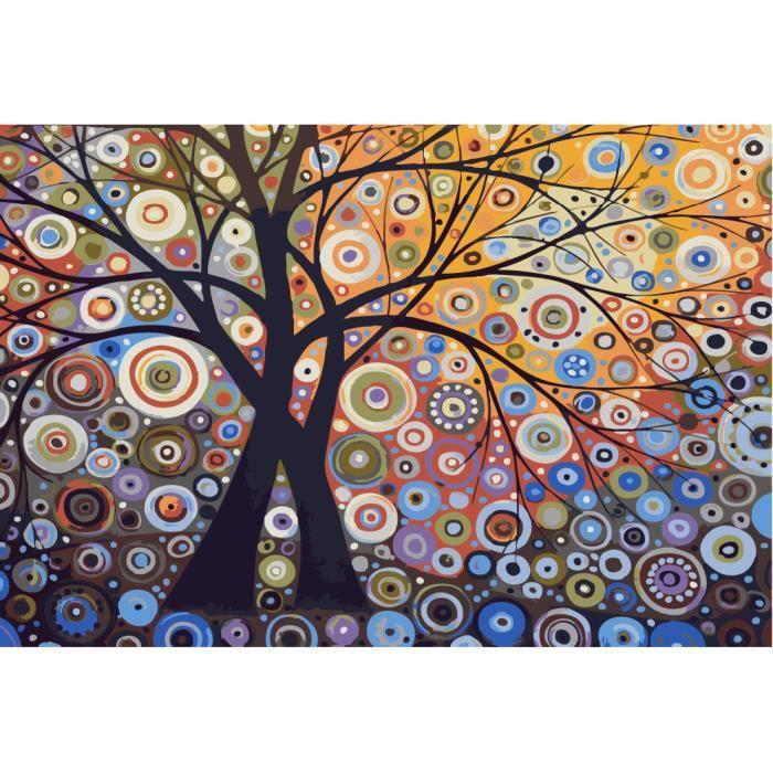 L 39 arbre de la vie canvas peinture l 39 huile abstraite d coration murale peint 1set diy peinture - Arbre de vie decoration murale ...