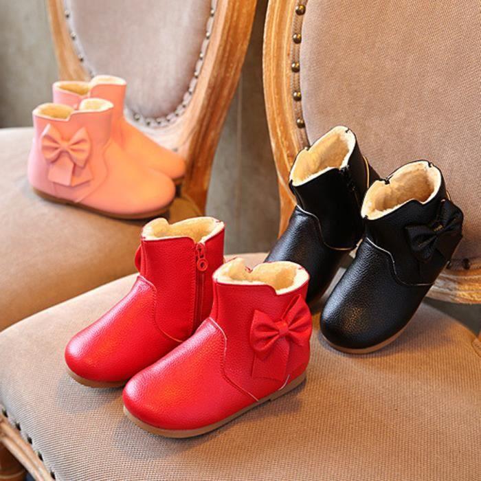 Nouvel automne hiver bowknot garder chaud Mode enfants épaississement des filles bottes de neige