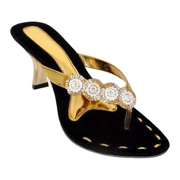 Sandal gold Wuf40 D'or foot Taille 1391 De Femme 42 Pour Talon p210 t0nzxTUq