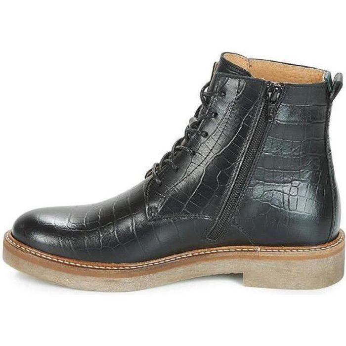 f5153d783e35 Bottines   boots oxigeno femme kickers 655562 Noir Noir - Achat ...
