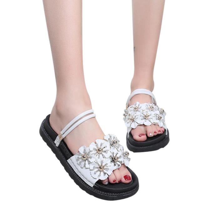 Unie Plage De Plat Femmes Sandales Fleur Talon Mode Slipper 5199 Couleur Chaussures TzpqpwEv