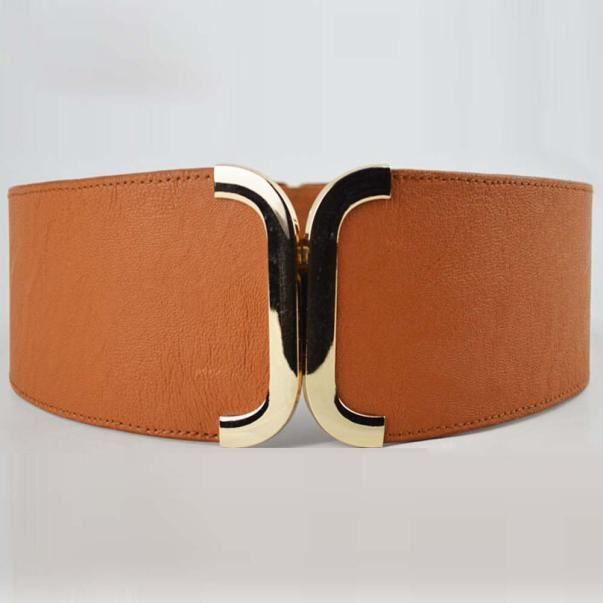 4b21c0bc9277 Femme Brève large ceinture élastique décoration Cummerbund Robe Bracelet  Accessoires marron