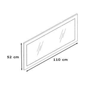 Miroir cadre bois achat vente miroir cadre bois pas for Miroir mural rectangulaire sans cadre