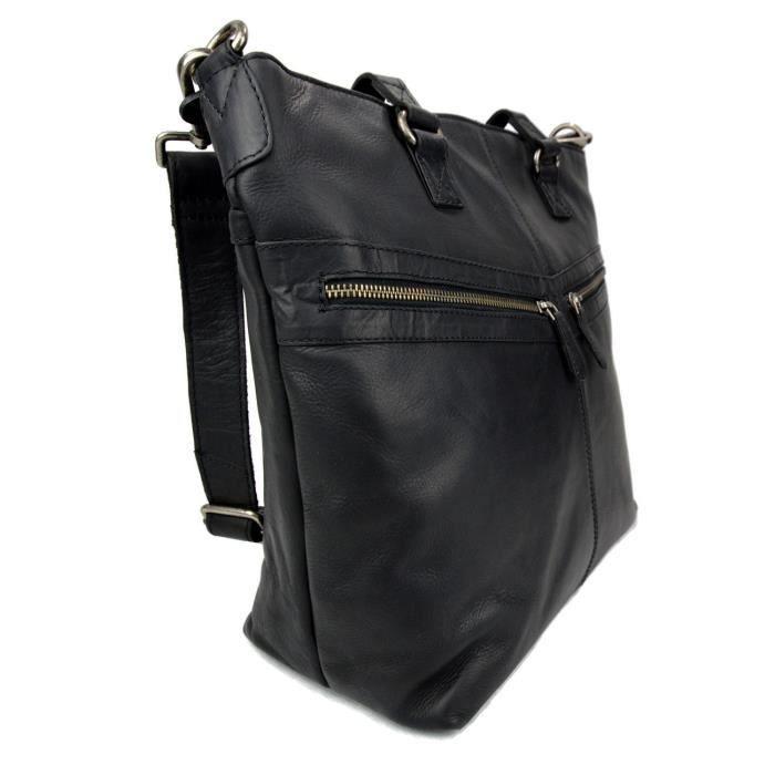 Sac cuir femme sac en cuir dèpaule bandoulierè en cuir noir sac besace en cu