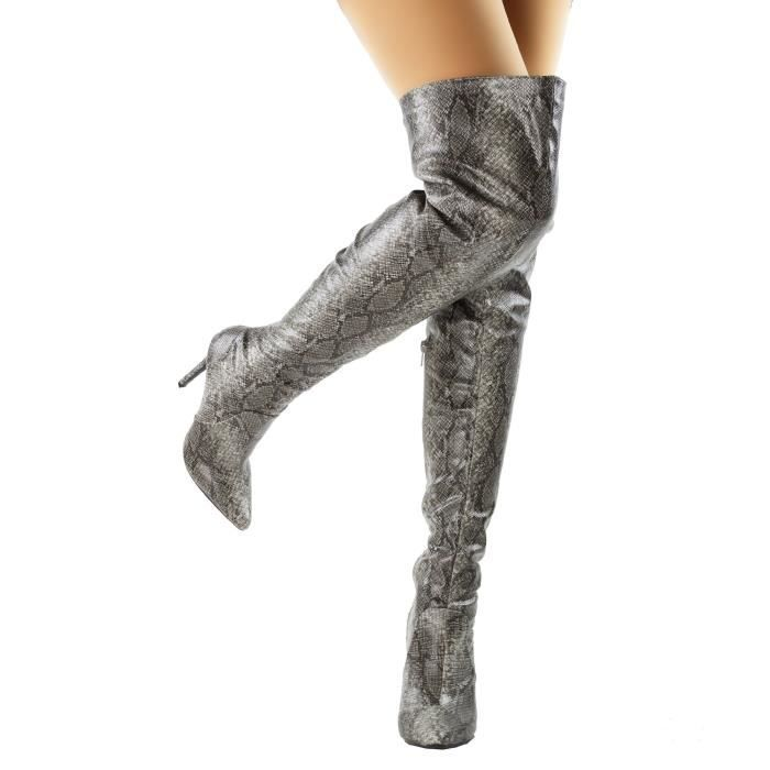 Pointy Toe Cuisse sexy haut talon aiguille Cuissardes du genou ON87Z Taille-39 ybZrJa2aX