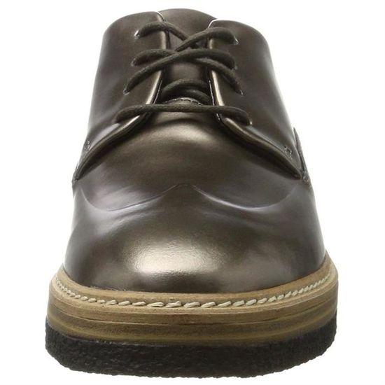 Femme Clarks Zante Chaussures Gris A Zara Lacets w60FqpnOA