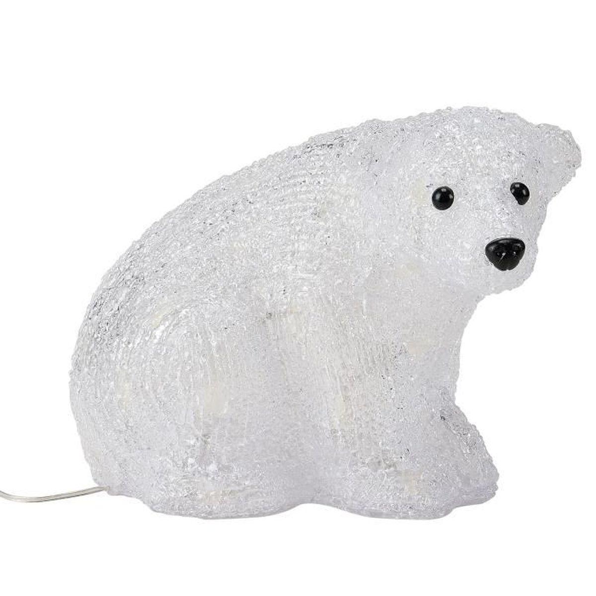 Ours polaire deco de noel achat vente pas cher for Achat de decoration