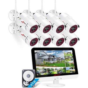 CAMÉRA DE SURVEILLANCE Caméra de surveillance ANRAN sans fil 1080P 8CH 12