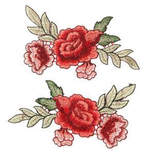 RENFORT - PATCH 2 Pcs-ensemble Rose Fleur Floral Col Coudre sur Pa 9715e07af2cd