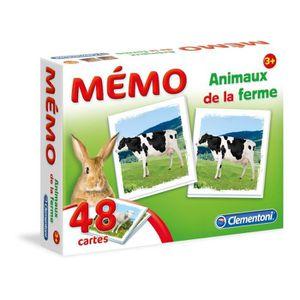 MÉMORY CLEMENTONI - Jeu Mémorisation - Mémo Les Animaux d