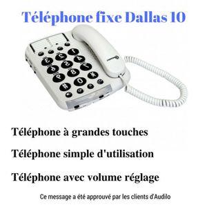 Téléphone fixe Le Téléphone filaire senior Geemarc : Téléphone fi