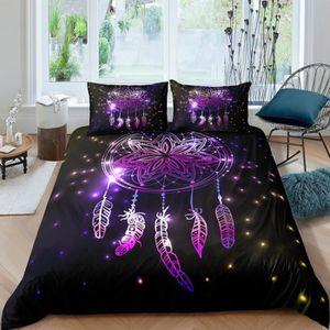 HOUSSE DE COUETTE SEULE Parure de lit attrape rêves 3D effet 220*240 cm 4