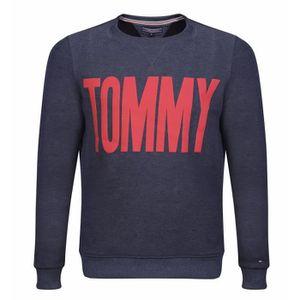 SWEATSHIRT Tommy Hilfiger Sweat Hommes Bleu Marin Nouveau