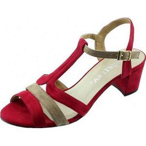 SANDALE - NU-PIEDS LAMY - Sandales talon carré stable chaussures peti ... 1bf283eaed45