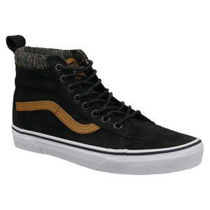 Pas Cher Vans SK8 Hi Zip Chaussures Haute Enfant Noir Charbon