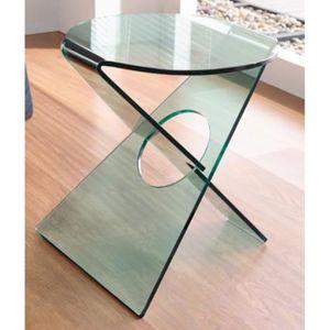 TABLE D'APPOINT Guéridon en verre, L.50 X P.50 X Ht.52 cm
