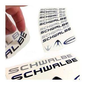 DÉCORATION DE VÉLO Planche de 6 Stickers Vélo Autocollant SCHWALBE