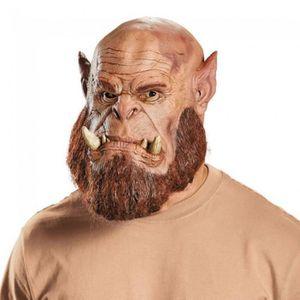 MASQUE - DÉCOR VISAGE Masque Warcraft : Deluxe Orgrim - En latex