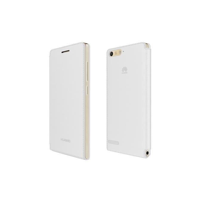 HUAWEI Flip Case Folio Etui pour Huawei Ascend G6 4G - Blanc