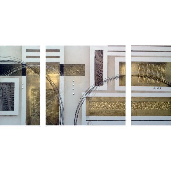 TABLEAU - TOILE CUBIC Tableau multi-panneaux Toile peinte 70x140 c