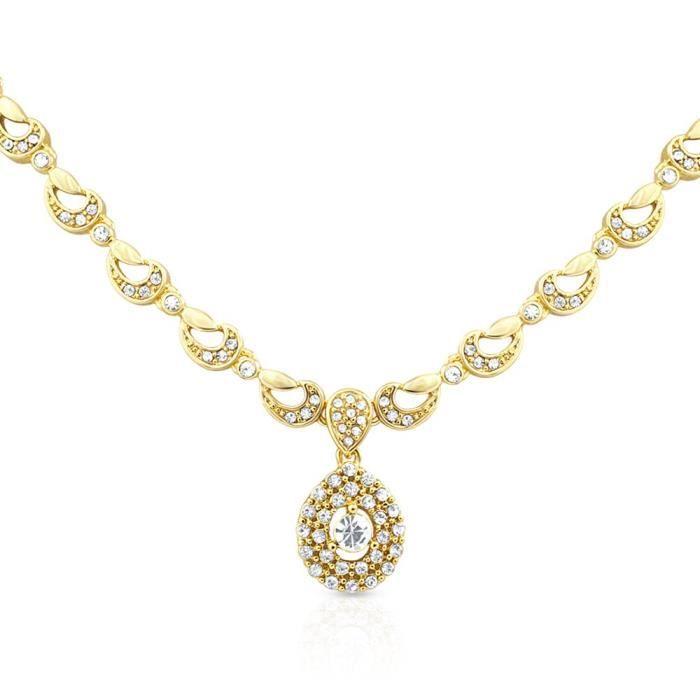 Femmes Oviya plaqué or soir fard à joues avec pendentif en cristal Pour Ps2193062g B2M05