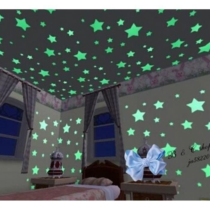100 Pcs Étoiles Miroir Stickers Muraux Stickers Muraux Étoiles Décoration  Pour Enfants Chambres De Bébé Maison Stickers Muraux Glow