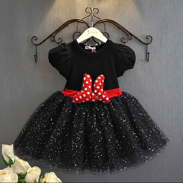 a70017fb9cdbf Rose Bébés filles habillent Minnie Mouse robes ... Noir - Achat ...