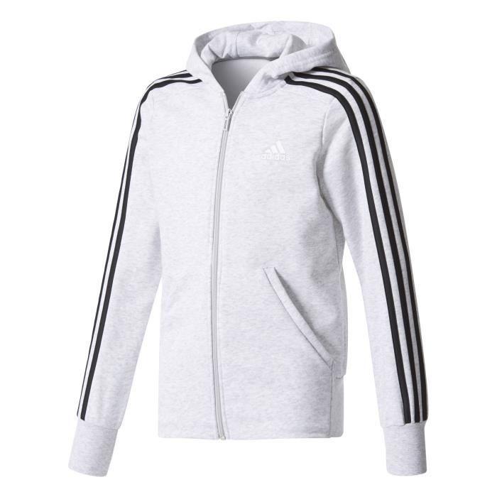 7a6a36f919dbd Veste à capuche junior adidas Essentials 3-Stripes - Prix pas cher ...