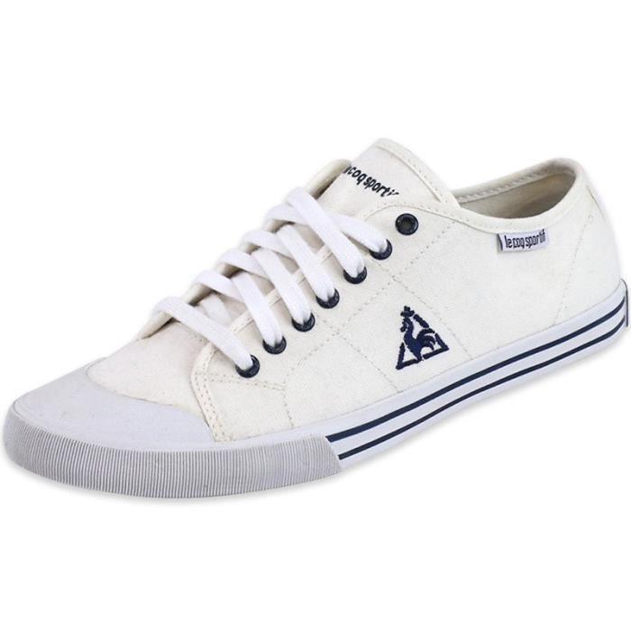 ffdd4c1a0571 Chaussures Vervins Low Blanc Femme Le Coq Sportif Beige Blanc ...