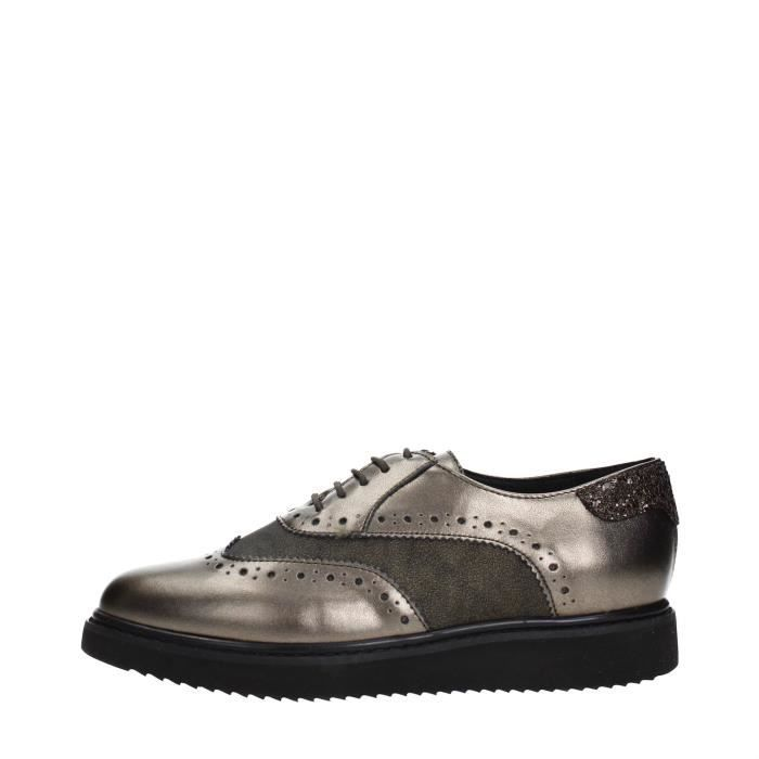 À Chaussures Grey38 Lacets Femme Taupedk Geox Grey shrdCtQx