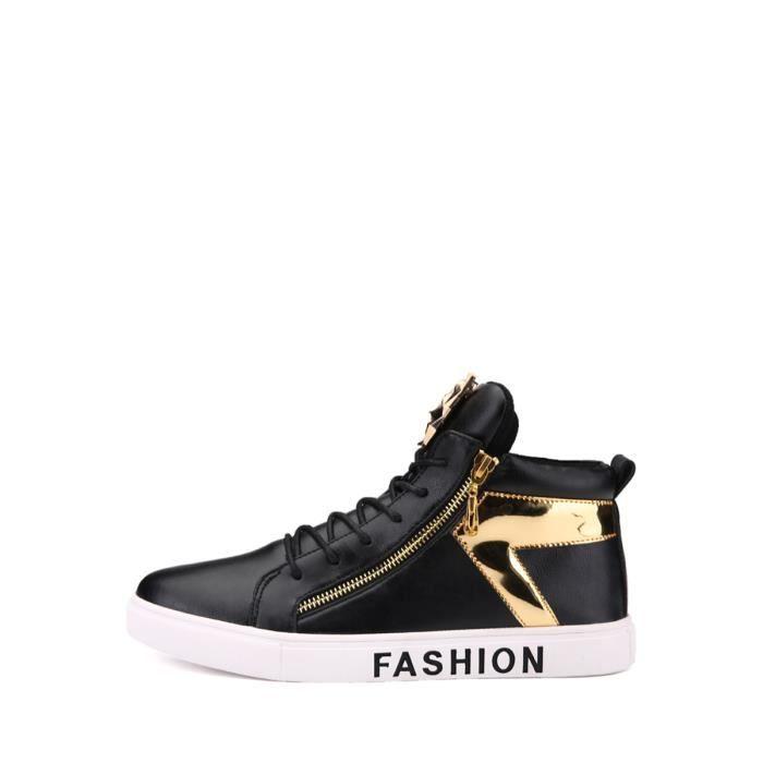 Bottes d'homme populaire Zipper design Color Block lacer Chaussures 8701444