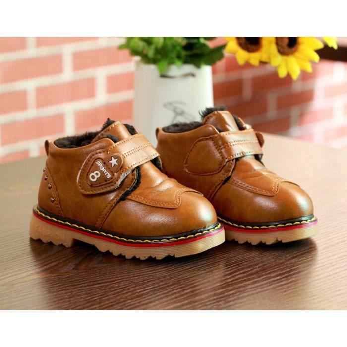 Chaussures Detente Garçons Chaussures enfants hiver printemps enfant Magic Stickers Sneakers Outdoor chaussures Chaussures fourrées