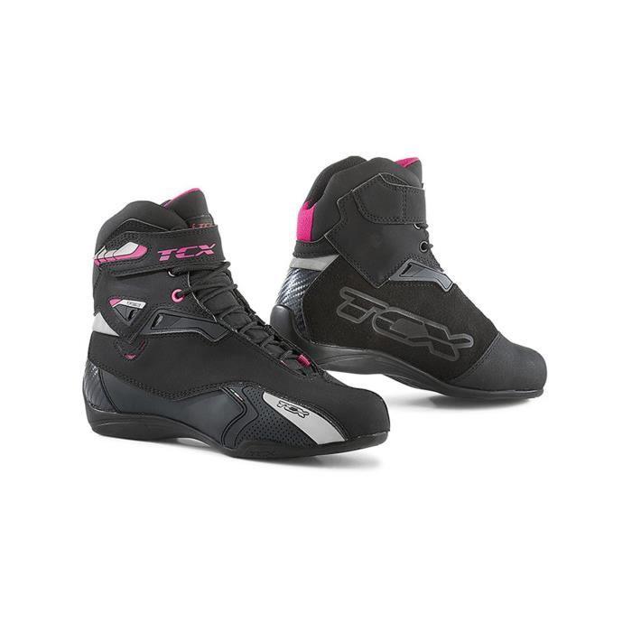 CHAUSSURE - BOTTE Chaussures moto Femme TCX Rush Waterproof Noir Fuc c9b5a67d89f0
