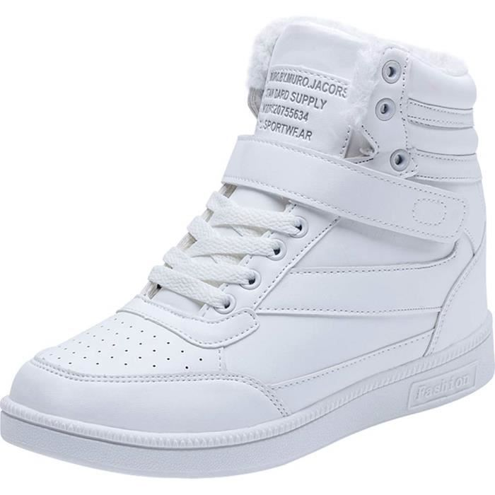 basket nike blanche a lacets montante