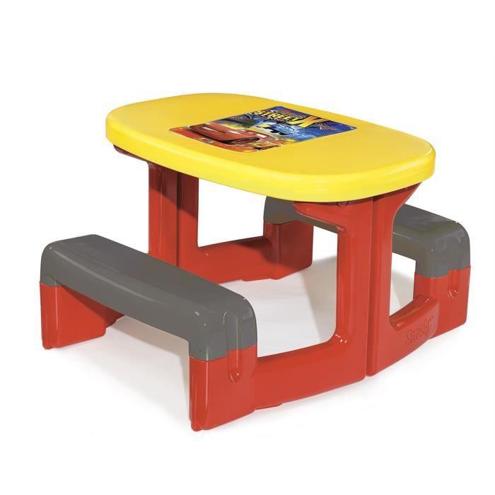 cars table pique nique enfant achat vente table de pique nique cdiscount. Black Bedroom Furniture Sets. Home Design Ideas
