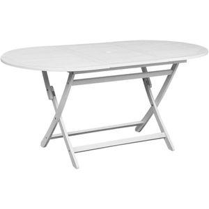Salon jardin bois table ovale - Achat / Vente Salon jardin bois ...