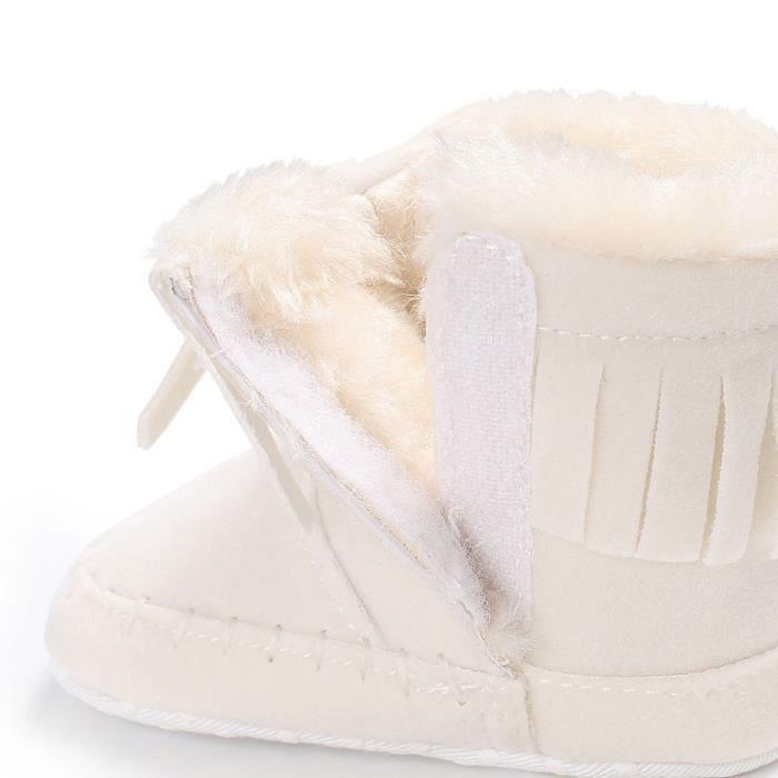 De Nourrisson Nouveau Semelle Chaussures né Fille Bottes Réchauffement blanchm Neige à Souple Botte Bébé v40wxq4z