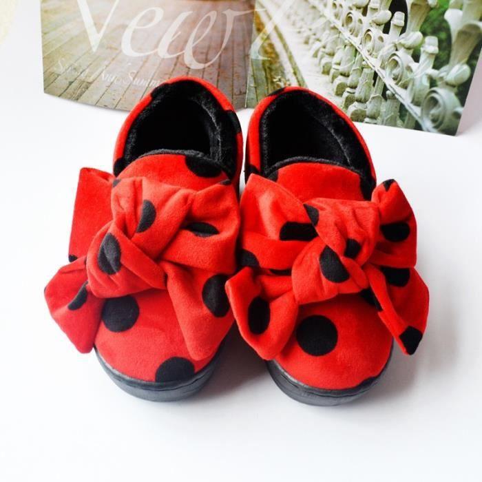 Hiver pantoufles mignon haut de gamme pantoufles en coton dames maison pantoufles épaisses chaussures d'intérieur chaussures de 0tWkCej9py