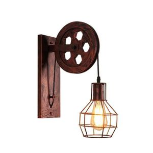 APPLIQUE  Loft Rétro Lanternes Luminaires Poulie Applique Su