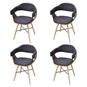 CHAISE R178 Ce jeu de 4 chaises de salle a manger elegant