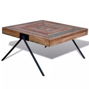 TABLE BASSE R36 Cette table basse exotique en bois de teck de
