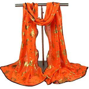 678fda671c6 ECHARPE - FOULARD Les femmes Halloween citrouille imprimer écharpe l ...