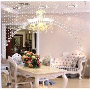 RIDEAU DE PORTE 1 Perles de verre de luxe porte Chaîne Tassel ride