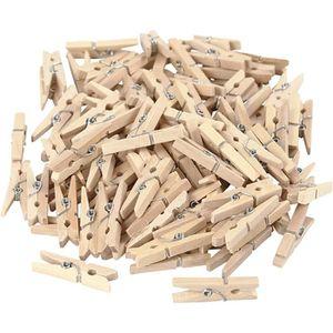 PINCE À LINGE Petites pinces à linges en bois avec ressort à spi