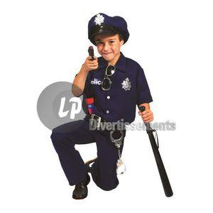 ACCESSOIRE DÉGUISEMENT Déguisement de policier bleu enfant taille 128cm 58c12368b642