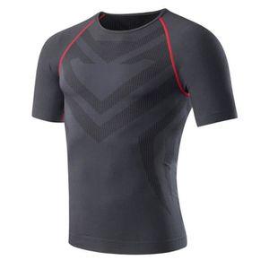 T-SHIRT DE COMPRESSION Compression T-shirt Manches courtes Homme Sport Gy 582f1100e2a