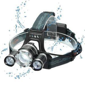 Lampe Frontale Super Puissante Led T6 4 Modes De Luminisote Parfait