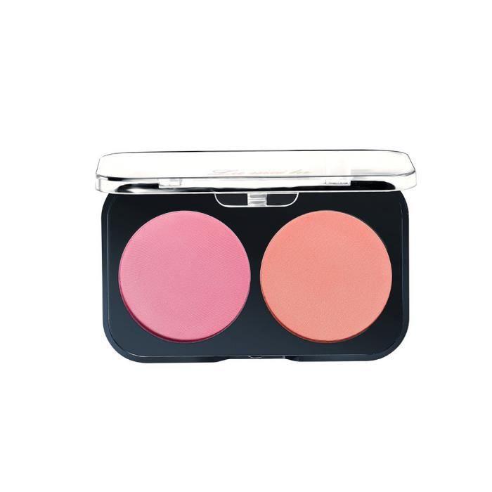 Garniture Rouge plaque avec le maquillage du visage rose orange vif fard à  joues en poudre @moapmoa 0143